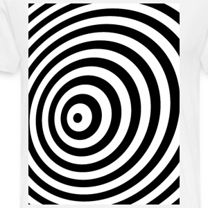 Minimum Geometry Illusion in Black & White(OP-Art) T-Shirts - Men's Premium T-Shirt