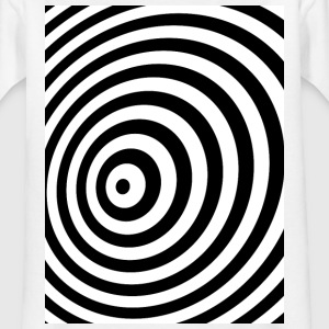 Minsta Geometri Illusion i Black & White OP-ART T-shirts - T-shirt barn