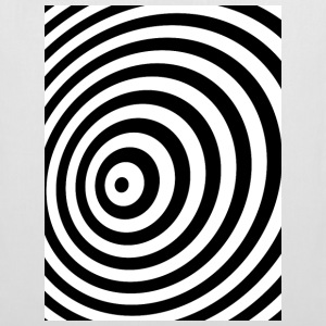 Minimum Geometry Illusion in Black & White(OP-Art) Tasker & rygsække - Mulepose