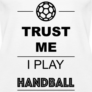 Trust me I play Handball 1c Topper - Premium singlet for kvinner