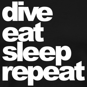 dive_eat_sleep_repeat - Men's Premium T-Shirt
