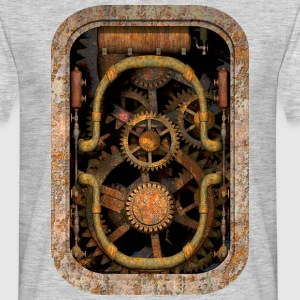 Rusty and Grungy Steampunk Machinery Men's T-Shirt - Men's T-Shirt