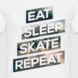 Eat Sleep Skate Repeat - Männer T-Shirt