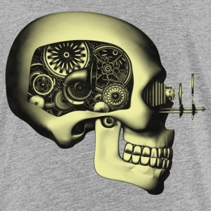 Steampunk Automaton / Robot Skull #2 Teenager's Pr - Teenage Premium T-Shirt