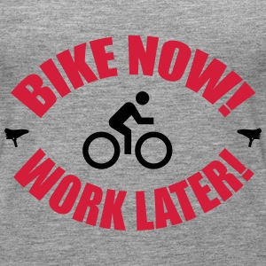 Bike now work later Topit - Naisten premium hihaton toppi