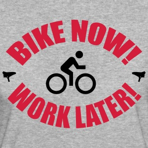 Bike now work later T-shirts - Ekologisk T-shirt dam
