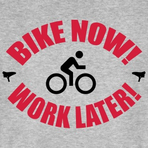 Bike now work later T-Shirts - Männer Bio-T-Shirt