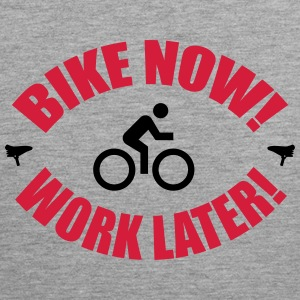 Bike now work later Tank Tops - Tank top premium hombre