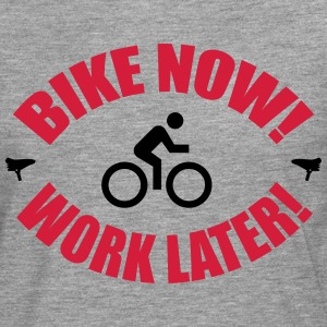 Bike now work later Langarmshirts - Männer Premium Langarmshirt