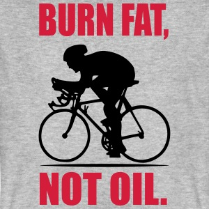 Burn fat, not oil T-shirts - Organic mænd
