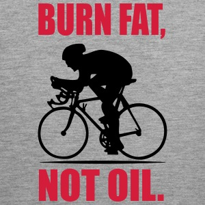 Burn fat, not oil Tank Tops - Männer Premium Tank Top