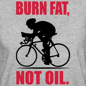 Burn fat, not oil Tee shirts - T-shirt Bio Femme