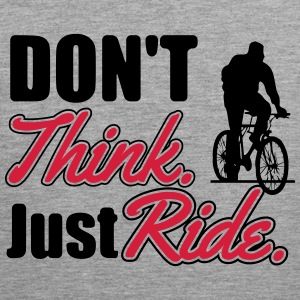 Don't think. Just ride Tanktoppar - Premiumtanktopp herr