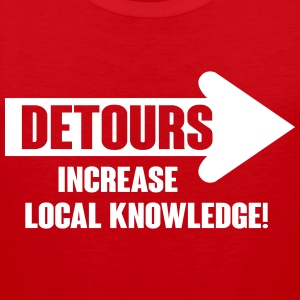 Detours increase local knowledge Tank Tops - Herre Premium tanktop