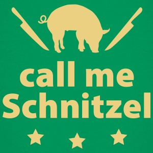 Teenager T-Shirt call me Schnitzel Schwein Steak G - Teenager Premium T-Shirt