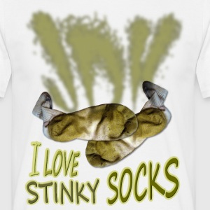 I love STINKY SOCKS - T-shirt Homme