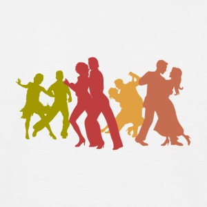 Colorful Latin Dancers - Men's T-Shirt
