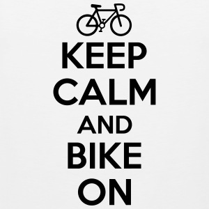 Keep calm and bike on Tank Tops - Tank top premium hombre