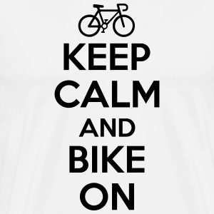 Keep calm and bike on Magliette - Maglietta Premium da uomo