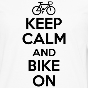 Keep calm and bike on Långärmade T-shirts - Långärmad premium-T-shirt herr