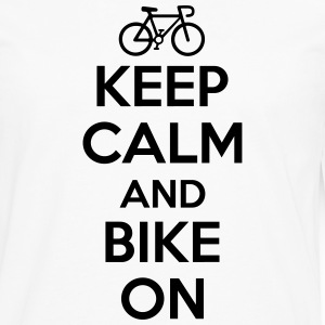Keep calm and bike on Skjorter med lange armer - Premium langermet T-skjorte for menn