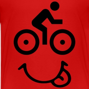 Bike face T-shirts - Børne premium T-shirt