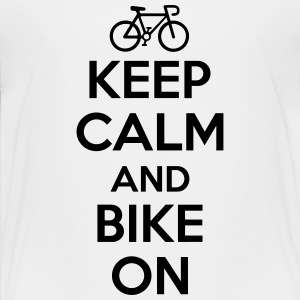 Keep calm and bike on Tee shirts - T-shirt Premium Ado