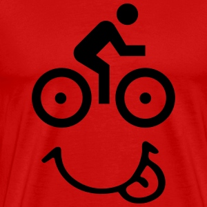 Bike face T-shirts - Mannen Premium T-shirt