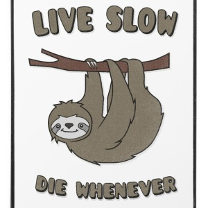 Funny & Cute Sloth Live Slow Die Whenever Slogan Etuier for mobil & nettbrett - iPhone 4/4s hard case