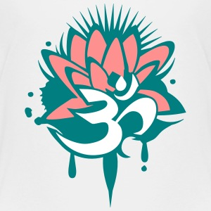 A lotus flower with Om symbol Shirts - Kids' Premium T-Shirt
