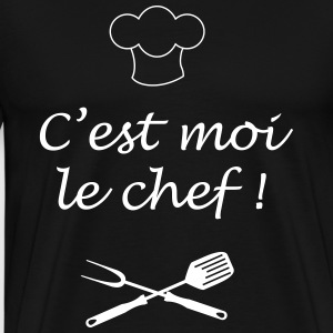 chef barbecue cuisinier Tee shirts - T-shirt Premium Homme