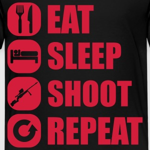 eat_sleep_weapon_repeat_6_1f Shirts - Kinderen Premium T-shirt