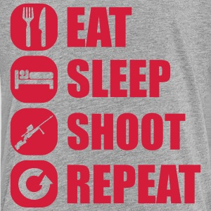 eat_sleep_weapon_repeat_6_1f T-Shirts - Teenager Premium T-Shirt