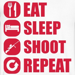 eat_sleep_weapon_repeat_6_1f T-shirts - T-shirt med v-ringning herr