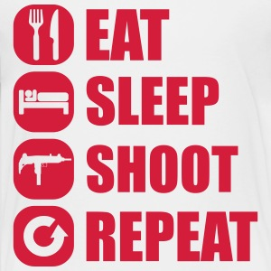 eat_sleep_weapon_repeat_5_1f Shirts - Teenager Premium T-shirt