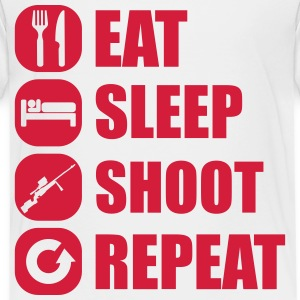 eat_sleep_weapon_repeat_6_1f Skjorter - Premium T-skjorte for barn