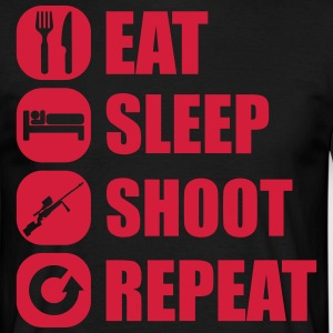 eat_sleep_weapon_repeat_6_1f T-Shirts - Männer T-Shirt