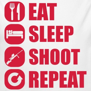 eat_sleep_weapon_repeat_6_1f Babybody - Økologisk langermet baby-body