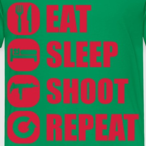 eat_sleep_weapon_repeat_5_1f T-shirts - Premium-T-shirt barn