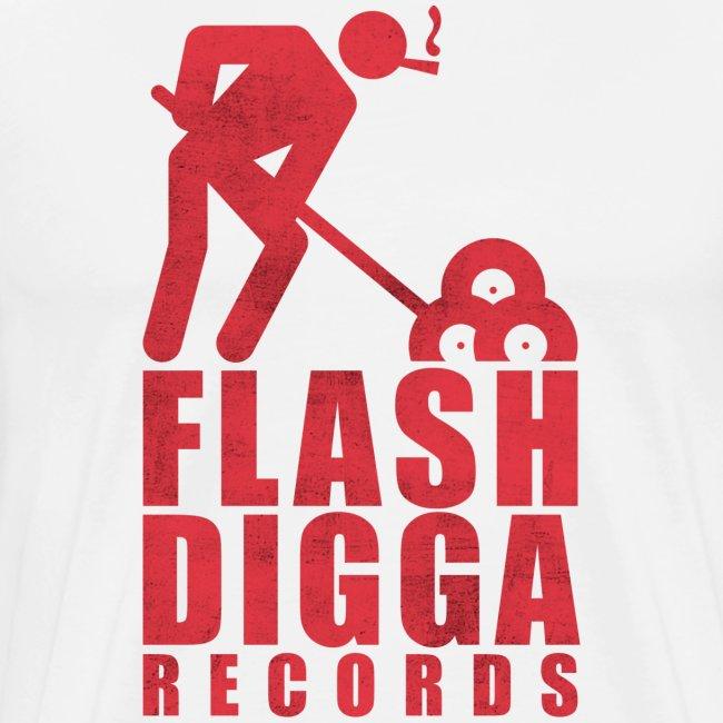Flashdigga Shirt Rot/Weiss