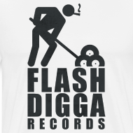 Motiv ~ Flashdigga Shirt Schwarz/Weiss