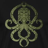 Motiv ~ Tintenfischwurst Shirt Grün/Schwarz