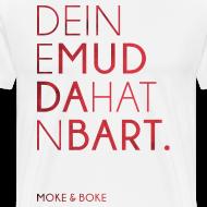 Motiv ~ Deine Mudda Shirt Rot/Weiss