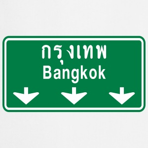 Bangkok Ahead ~ Watch Out! Thailand Traffic Sign - Cooking Apron