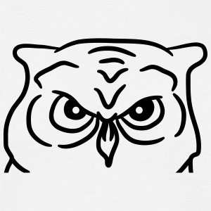 Cool evil cartoon owl face T-Shirts - Men's T-Shirt