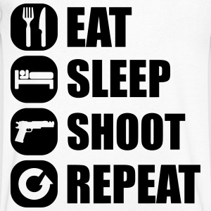 eat_sleep_weapon_repeat_2_1f Magliette - Maglietta da uomo con scollo a V