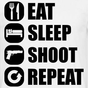 eat_sleep_weapon_repeat_2_1f T-shirts - Herre-T-shirt
