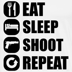 eat_sleep_weapon_repeat_2_1f T-Shirts - Men's Premium T-Shirt
