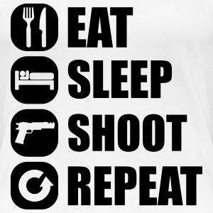 eat_sleep_weapon_repeat_2_1f T-Shirts - Frauen Premium T-Shirt