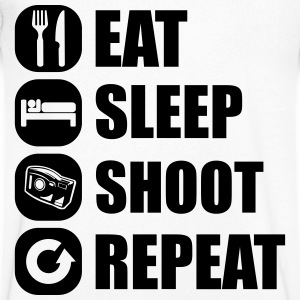 eat_sleep_shoot_repeat_7_1f T-Shirts - Men's V-Neck T-Shirt